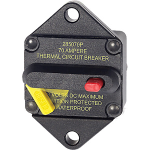 Blue Sea Systems BS-7085 Breaker, 285, Panel Mnt, DC 70A