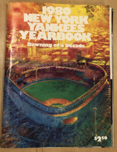 1980 New York Yankees Yearbook Insert Poster Great Rivalries