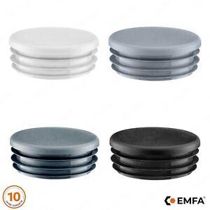 End Cap Round Plastic Blanking Caps Tube Pipe Inserts Plug Bung Steel Leg
