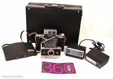 Vintage Polaroid Land Camera Model 360 Electronic Flash With Flash Large Case