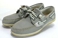 Sperry Top Sider Songfish $100 Women's Boat Shoes Size 7 Leather Gray