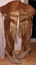 Overknee Wildleder Stiefel weich Vintage GR38 Ibinka, size 7, top Zustand