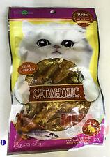 Cataholic Real Chicken + Fish Cat Snack Treats Food Healthy Skin Shiny Coat 50g