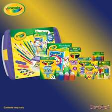 Crayola Mega Activity Tub inc Wax Crayons Twistables Coloured Pencils Supertips