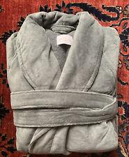 NEW $300.LUXURY FRETTE SHAWL COLLAR TURKISH Cotton Bathrobe GRAY Size XL Unisex