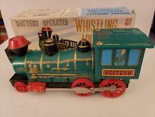 Vintage Marx Battery Operated Whistling Locomotive Plastic/Tin Train