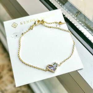 Kendra Scott | Ari Heart | Abalone Shell Gold Chain Bracelet