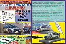 "ANEXO DECAL 1/43 SUBARU IMPREZA 555 P.BOURNE ""POSSUM""R.NEW ZEALAND 1995 7th (07)"