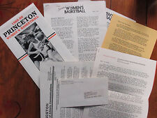 1989 Princeton Women's  Basketball Program(JEAN  KOWALIK/LEAH  SPRARAGEN)+ Xtras