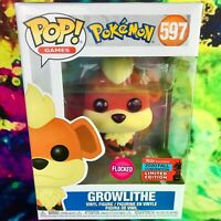 Flocked Growlithe 2020 NYCC Exclusive Pokemon Funko POP! *Mint with Protector*