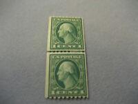US Stamp Scott #448 1c Pair MH OG