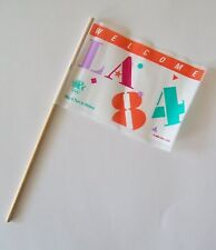 1984 Los Angeles Olympics Welcome Hand Flags La84 Play A Part In History Pennant