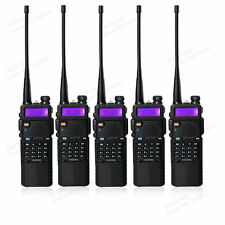 5PCS BaoFeng UV-5R UHF/VHF 2 way Radio With 3800mah Battery Walkie Talkie Black