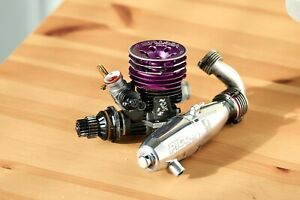 Novarossi VIR-TUS Tuned .12 On Road Engine (Turbo Plug) w/ picco 2678 pipe
