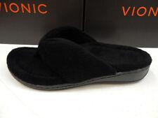 Vionic Womens Gracie Toe Post Slipper Black Size 8