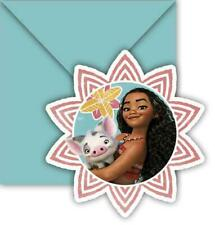 Moana Party Invitations & Envelopes x 6