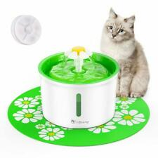 Automatic Pet Feeder Flower Cat Dog Electric Fountain Dispenser open box