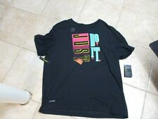 "Nike ""Basketball"" Dri-Fit Cotton T Shirt (Xxl) Nwt $25 Black W/ Graphic Logo!"