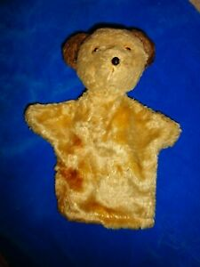 Vintage Golden MohairBear Hand Puppet - see pictures