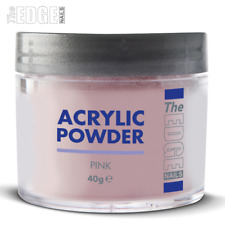 The EDGE NAILS 40g Pink ACRYLIC POWDER Professional Self Levelling & Medium Set