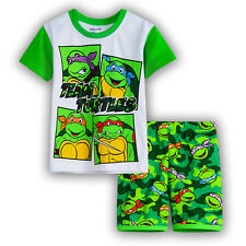 new kids baby Boys TMNT Ninja Turtle summer pyjama pjs size 1-6 sleepware