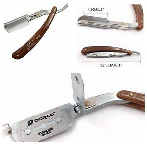 Razor Straight Edge Barber Folding Shaving Knife Plastic Handle Without  Blades