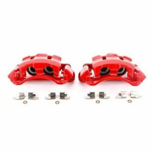 Power Stop Front Red Calipers w/Brackets - Pair for 00-05 Ford Excursion