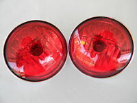 Harley Pursuit Lamps Passing AuxillaryTouring FLHP FLHTP 2 Red Lamps
