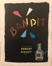 """BOUIDOIRES """"BANDIT""""  I UN PARFUM DE ROBERT PIGUET PARIS  AFFICHETTE"""