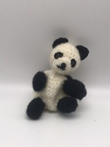 crochet panda Finger Figure Or Pencil Topper