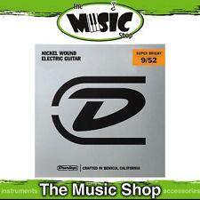 Set Dunlop 9-52 Super Bright Nickel Wound Electric Guitar Strings - DESBN952