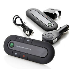 Wireless Bluetooth Car Multipoint Speakerphone Handsfree In-Car Kit Visor Clip