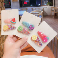 Cute Baby Kid Girl Fruit Hair Clip Hairpin Transparent Barrette Accessories Gift