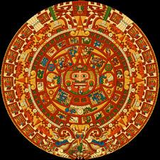 Stampa incorniciata-Calendario Azteco Pietra, Pietra del Sole, pietra delle cinque EPOCHE (immagine)