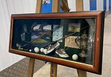 More details for large golf interest diorama 68cm wide behind glazed framed box