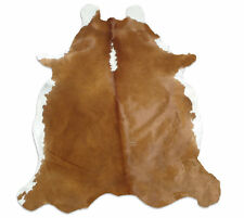 NEW LARGE Cowhide Rug  Cowskin Cow Hide Leather Carpet-  Brown Hereford.