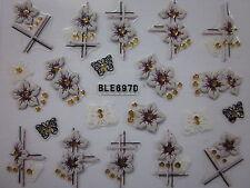 Fantasie di FIORI FRENCH MANICURE adesivi unghie nail art stickers BLE687D 698D