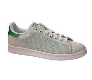 adidas Stan Smith Mens Trainer Shoe White Green Size 6.5 - 9.5 New RRP £65