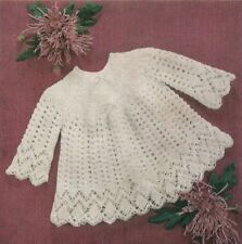 BABY vintage knitting pattern for angel top 3 or 4 ply yarn 3 sizes .. 18 to 20