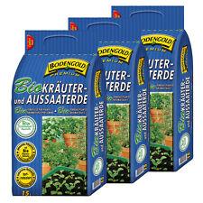 BIO Kräuter- & Aussaaterde BODENGOLD 3 Sack á 15L = 45 L Kräutererde Anzuchterde