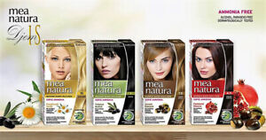 FARCOM.MEA NATURA Permanent Hair Color Cream Kit  Enriched with Organic Extracts