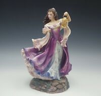 "FRANKLIN MINT BRONTE WUTHERING HEIGHTS CATHERINE PORCELAIN FIGURE LIMITED 11""H"