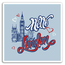2 x London UK Vinyl Stickers Travel Luggage #7753