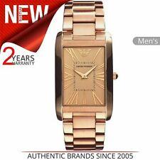 Emporio Armani Men's Watch AR2062¦Roman Numerals Rectangle Dial¦Bracelet Band
