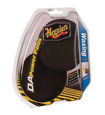 "Meguiars DA Power System Waxing 4"" Black Finishing Pads (2) Use with Drill or DA"