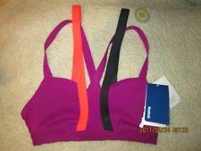 Reebok Playice sports c short bra-Nwt-Purple /black/orange
