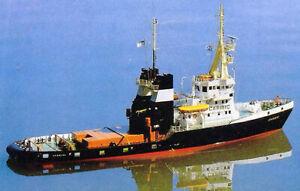 VTH-Modellbauplan Hochseeschlepper CARIBIC der Bugsier-Reederei im Maßstab 1:50