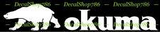 Okuma Fishing Rods & Reels - Outdoor Sports - Vinyl Die-Cut Peel N' Stick Decal