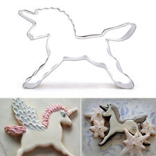 Unicorn Horse Cookies Cutter Mold Cake Biscuit Pastry Baking Mould New Style JYL