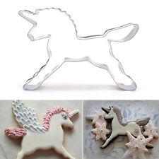 Einhorn Pferd Cookies Cutter Form Kuchen Biskuit Teig Backform süß heiß Neu Mode